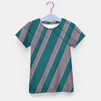 Thumbnail image of Graphic stripes in rose lilac teal  Kid's t-shirt, Live Heroes