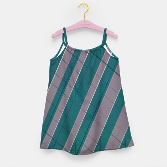 Thumbnail image of Graphic stripes in rose lilac teal  Girl's dress, Live Heroes