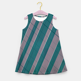 Thumbnail image of Graphic stripes in rose lilac teal  Girl's summer dress, Live Heroes