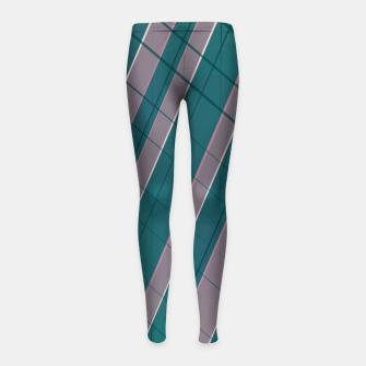 Thumbnail image of Graphic stripes in rose lilac teal  Girl's leggings, Live Heroes