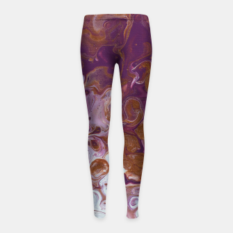 Thumbnail image of Plum Riot Girl's leggings, Live Heroes