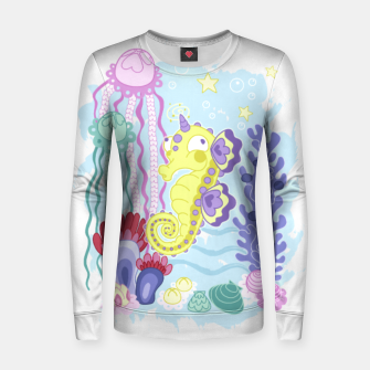 Thumbnail image of The Majestic Magical Seahorse Unicorn Women sweater, Live Heroes