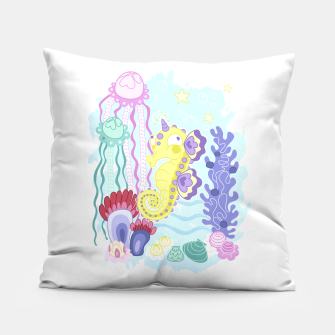 Thumbnail image of The Majestic Magical Seahorse Unicorn Pillow, Live Heroes