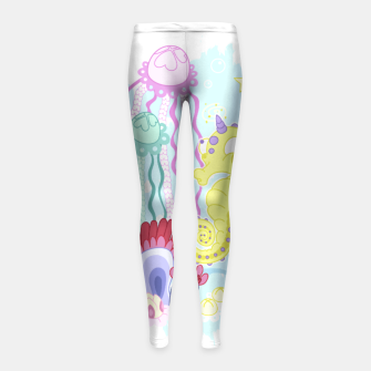 Thumbnail image of The Majestic Magical Seahorse Unicorn Girl's leggings, Live Heroes