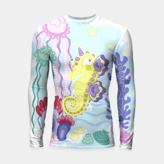 Thumbnail image of The Majestic Magical Seahorse Unicorn Longsleeve rashguard , Live Heroes
