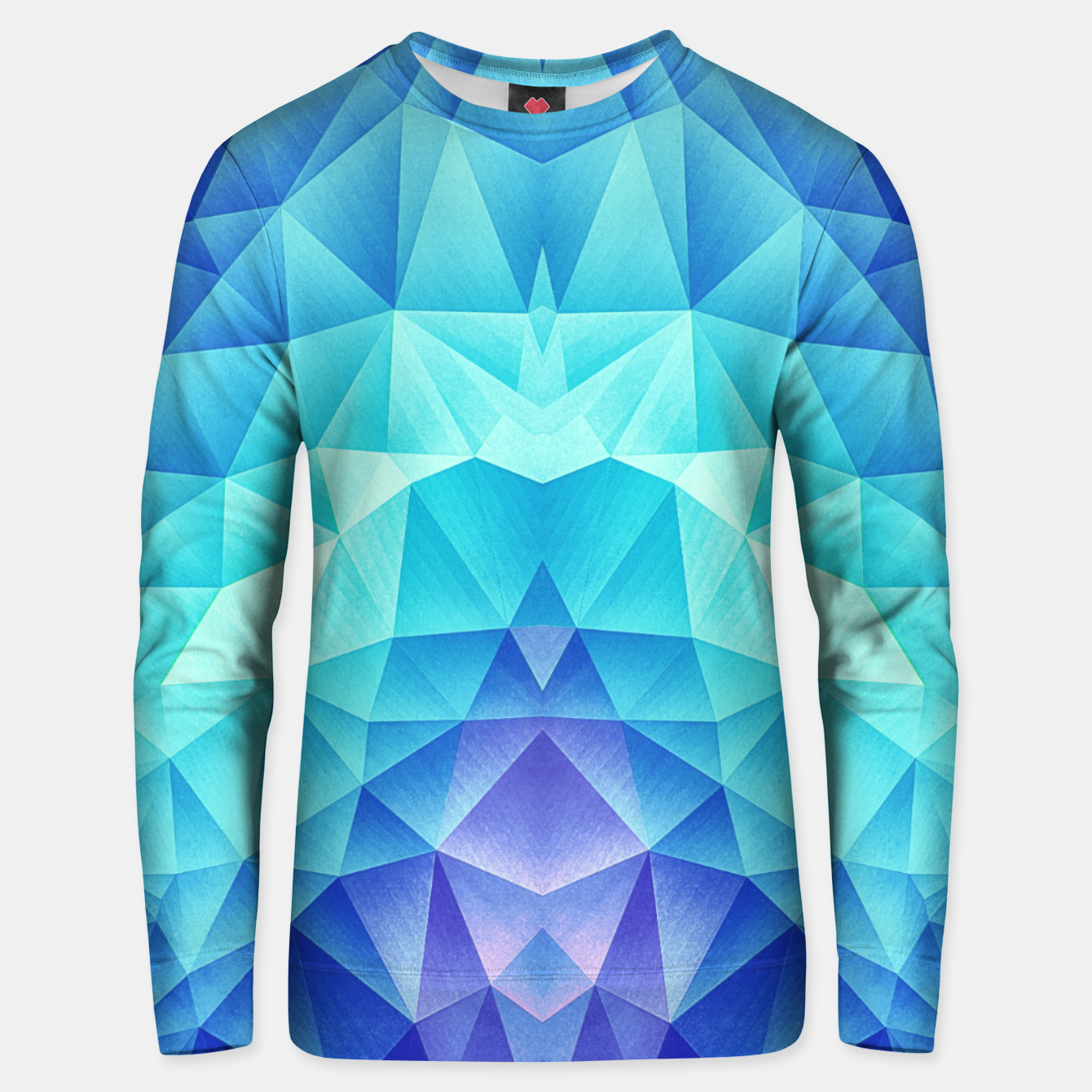 Image of Ice Blue / Abstract Polygon Crystal Cubism Low Poly Triangle Design Unisex sweater - Live Heroes