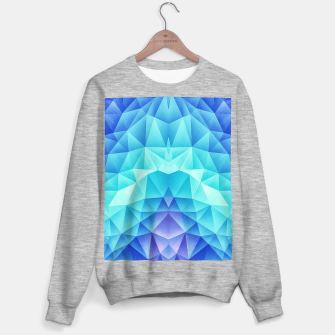 Ice Blue / Abstract Polygon Crystal Cubism Low Poly Triangle Design Sweater regular miniature