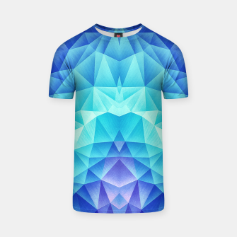 Ice Blue / Abstract Polygon Crystal Cubism Low Poly Triangle Design T-shirt miniature