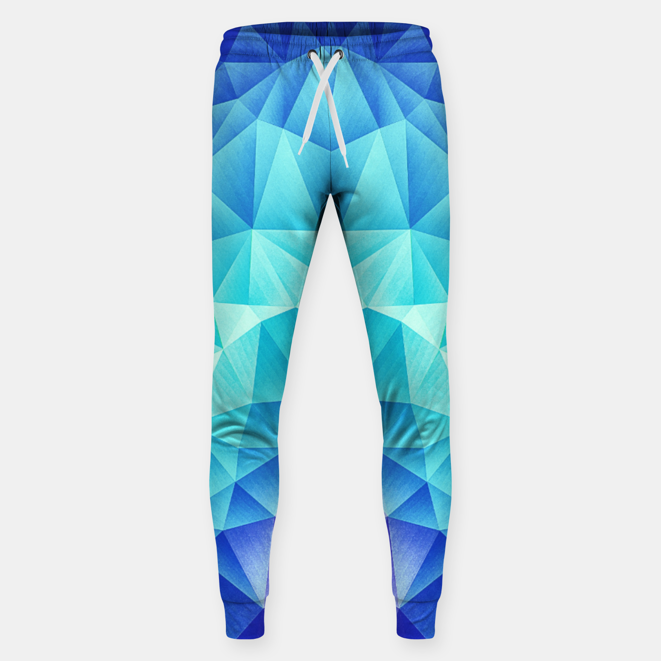 Image de Ice Blue / Abstract Polygon Crystal Cubism Low Poly Triangle Design Sweatpants - Live Heroes