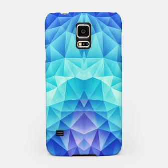 Thumbnail image of Ice Blue / Abstract Polygon Crystal Cubism Low Poly Triangle Design Samsung Case, Live Heroes