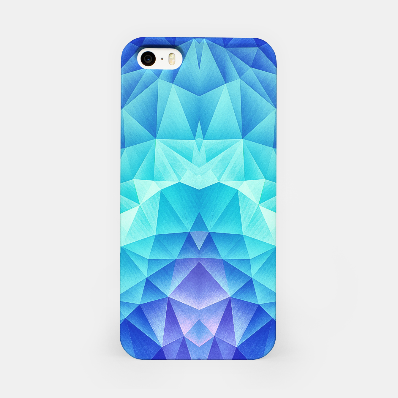 Image de Ice Blue / Abstract Polygon Crystal Cubism Low Poly Triangle Design iPhone Case - Live Heroes