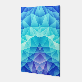 Ice Blue / Abstract Polygon Crystal Cubism Low Poly Triangle Design Canvas thumbnail image