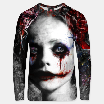 Thumbnail image of harley quinn Unisex sweater, Live Heroes