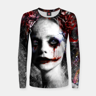 Thumbnail image of harley quinn Women sweater, Live Heroes