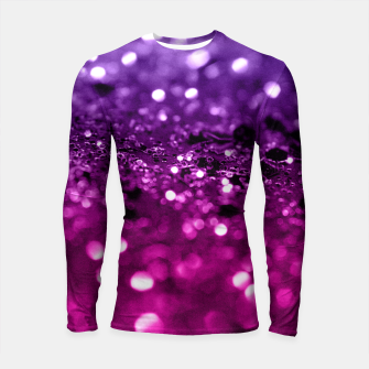 Thumbnail image of Pink Purple Lady Glitter #1 #shiny #decor #art Longsleeve rashguard, Live Heroes