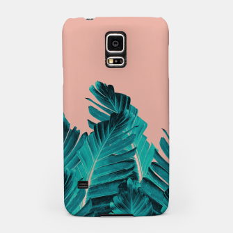 Thumbnail image of Turquoise Banana Leaves Dream #1 #tropical #decor #art Handyhülle für Samsung, Live Heroes