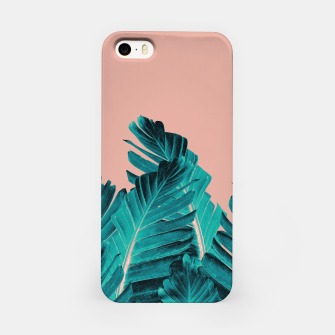 Thumbnail image of Turquoise Banana Leaves Dream #1 #tropical #decor #art iPhone-Hülle, Live Heroes