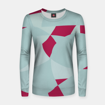 Thumbnail image of Dusty Pale Blue Vibrant Magenta Abstract Graphic Women sweater, Live Heroes