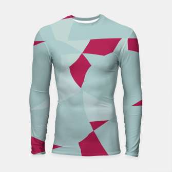 Thumbnail image of Dusty Pale Blue Vibrant Magenta Abstract Graphic Longsleeve rashguard , Live Heroes