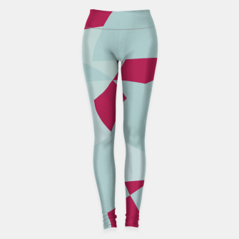 Miniatur Dusty Pale Blue Vibrant Magenta Abstract Graphic Leggings, Live Heroes