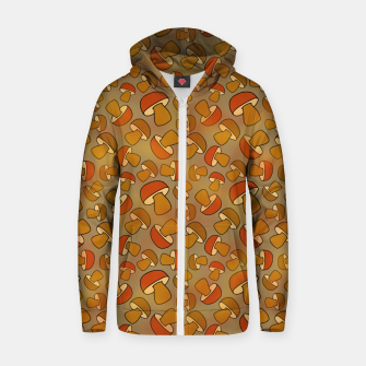 Thumbnail image of Porcinis Autumn Pattern Zip up hoodie, Live Heroes