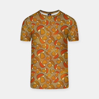 Thumbnail image of Porcinis Autumn Pattern T-shirt, Live Heroes