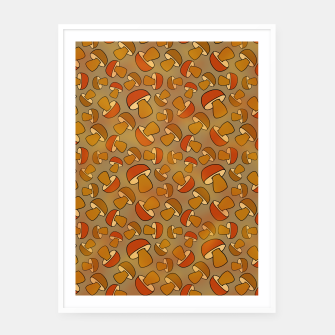 Thumbnail image of Porcinis Autumn Pattern Framed poster, Live Heroes