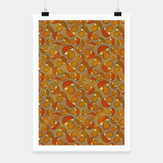 Thumbnail image of Porcinis Autumn Pattern Poster, Live Heroes