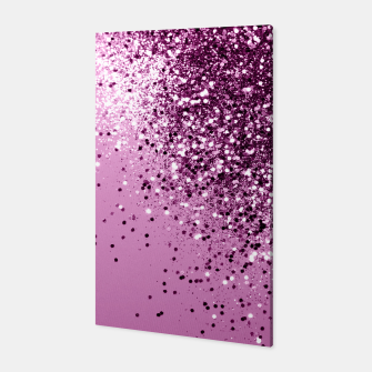 Miniatur Sparkling Pink Lady Glitter #1 #shiny #decor #art  Canvas, Live Heroes