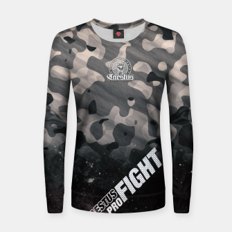 Thumbnail image of Black Camouflage Women sweater, Live Heroes