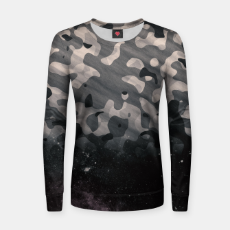 Thumbnail image of Black Camouflage II Women sweater, Live Heroes