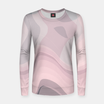 Thumbnail image of Blush Purple and Blue V Women sweater, Live Heroes