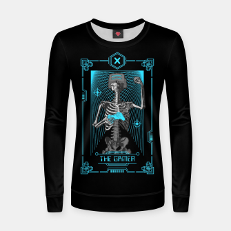 Thumbnail image of The Gamer X Tarot Card Women sweater, Live Heroes