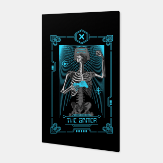 The Gamer X Tarot Card Canvas thumbnail image