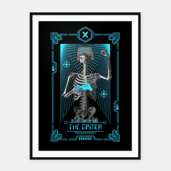 Thumbnail image of The Gamer X Tarot Card Framed poster, Live Heroes
