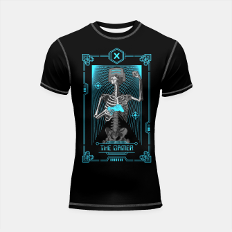 Thumbnail image of The Gamer X Tarot Card Shortsleeve rashguard, Live Heroes