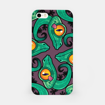 Thumbnail image of Cute Cartoon Gecko Pattern iPhone Case, Live Heroes