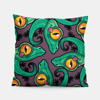 Thumbnail image of Cute Cartoon Gecko Pattern Pillow, Live Heroes