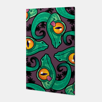 Thumbnail image of Cute Cartoon Gecko Pattern Canvas, Live Heroes