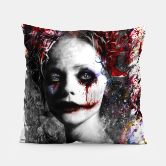 Thumbnail image of harley quinn Pillow, Live Heroes