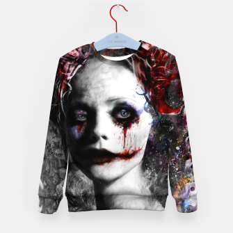 Thumbnail image of harley quinn Kid's sweater, Live Heroes