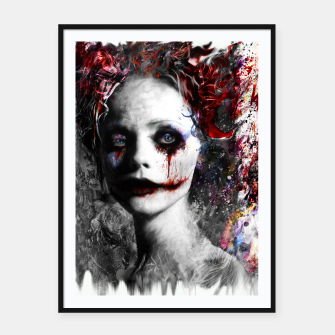 Thumbnail image of harley quinn Framed poster, Live Heroes