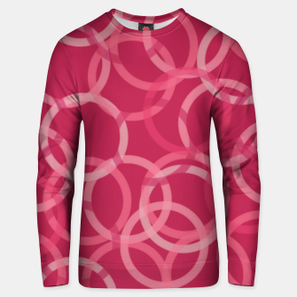 Thumbnail image of Beautiful muted red and pink circles  Unisex sweater, Live Heroes