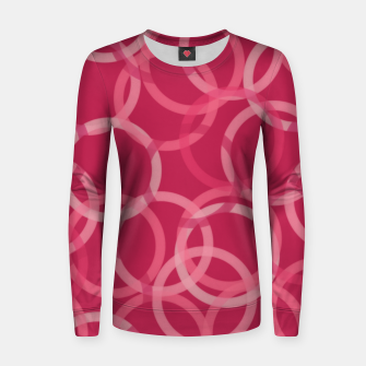 Thumbnail image of Beautiful muted red and pink circles  Women sweater, Live Heroes