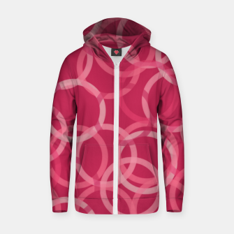 Thumbnail image of Beautiful muted red and pink circles  Zip up hoodie, Live Heroes