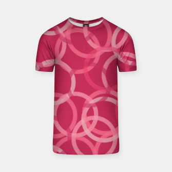 Thumbnail image of Beautiful muted red and pink circles  T-shirt, Live Heroes