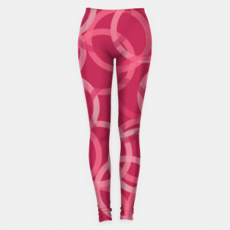 Thumbnail image of Beautiful muted red and pink circles  Leggings, Live Heroes