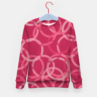 Thumbnail image of Beautiful muted red and pink circles  Kid's sweater, Live Heroes