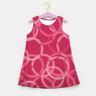 Thumbnail image of Beautiful muted red and pink circles  Girl's summer dress, Live Heroes