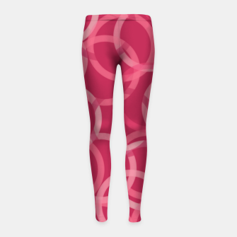 Thumbnail image of Beautiful muted red and pink circles  Girl's leggings, Live Heroes